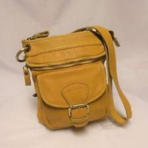 TANO Yellow Leather Crossbody Bag